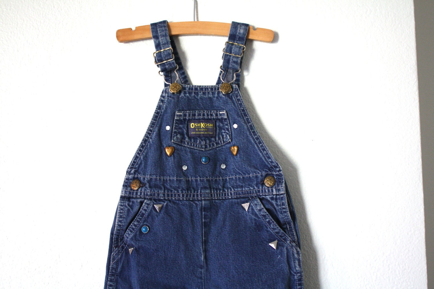 Vintage OshKosh Overalls, Bedazzled Baby Toddler Size 2T USA - 1SweetDreamVintage