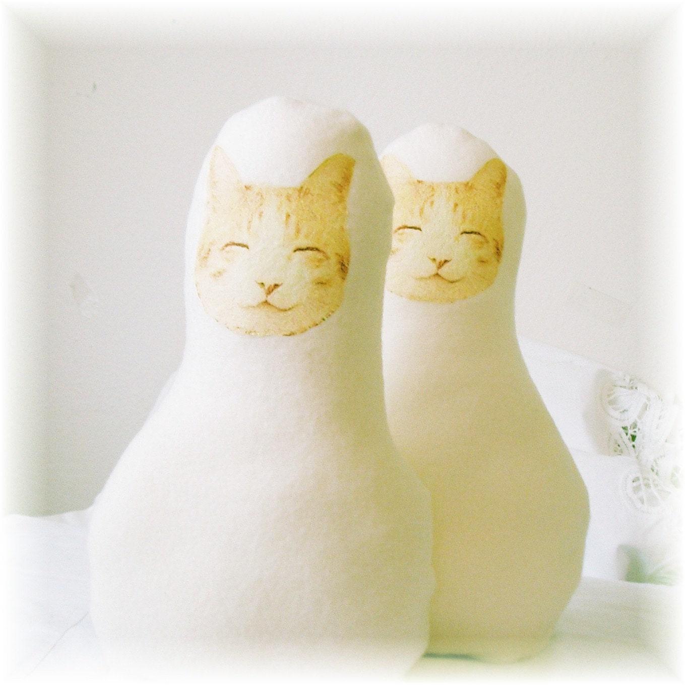 CLEARANCE Babys First Kitty Cat Super Soft Shaped Doll - LittleLaLaOriginals