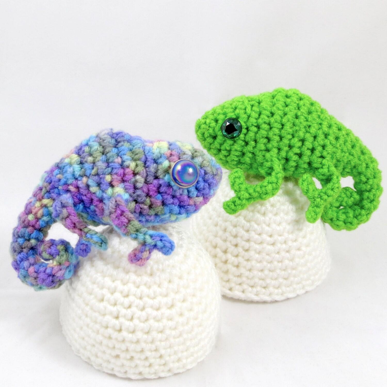 Amigurumi Chameleon Free Pattern : Crochet Pattern: Amigurumi Egg Babies Baby Chameleon by ...