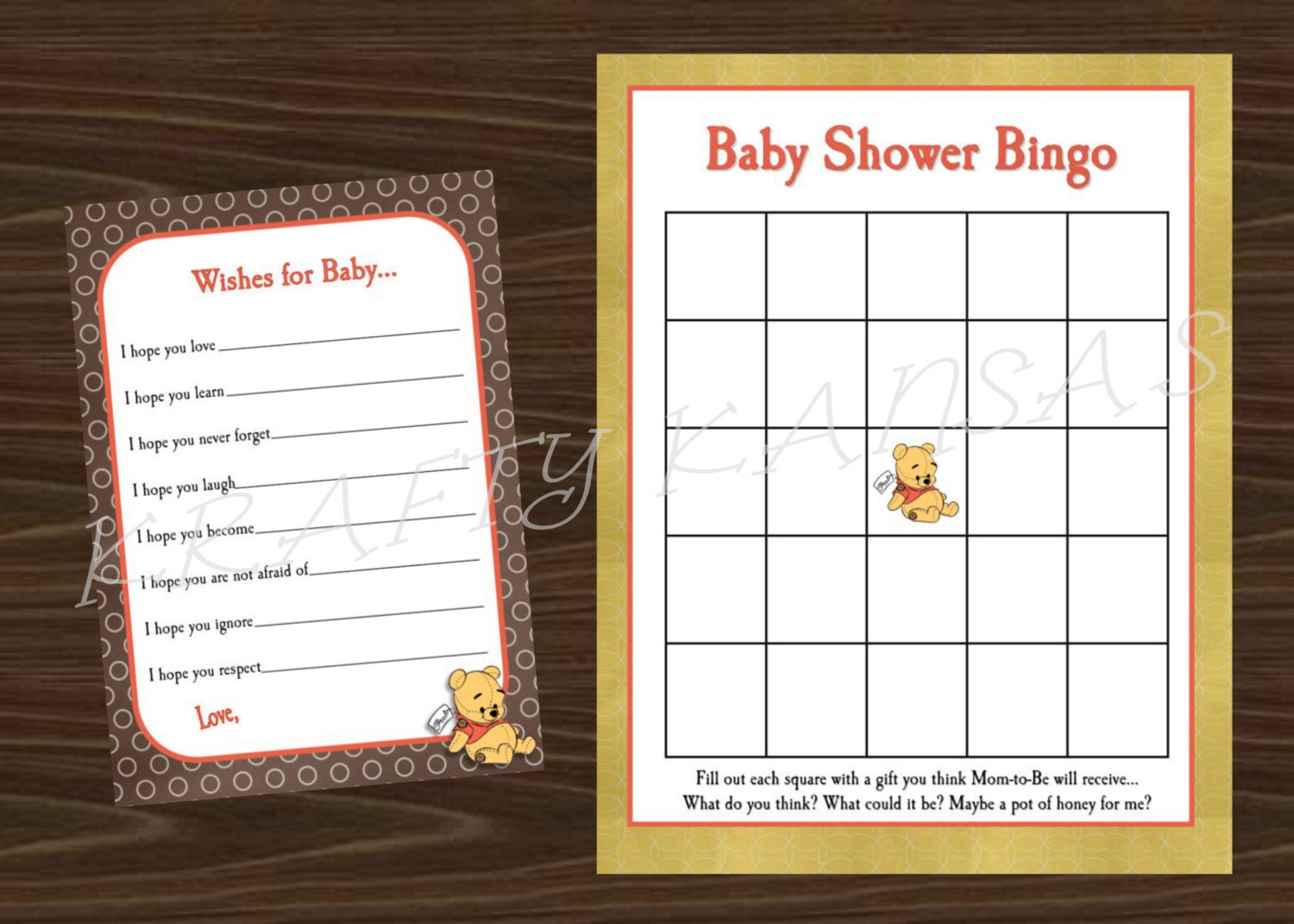 winnie the pooh baby shower accessories instant download baby shower