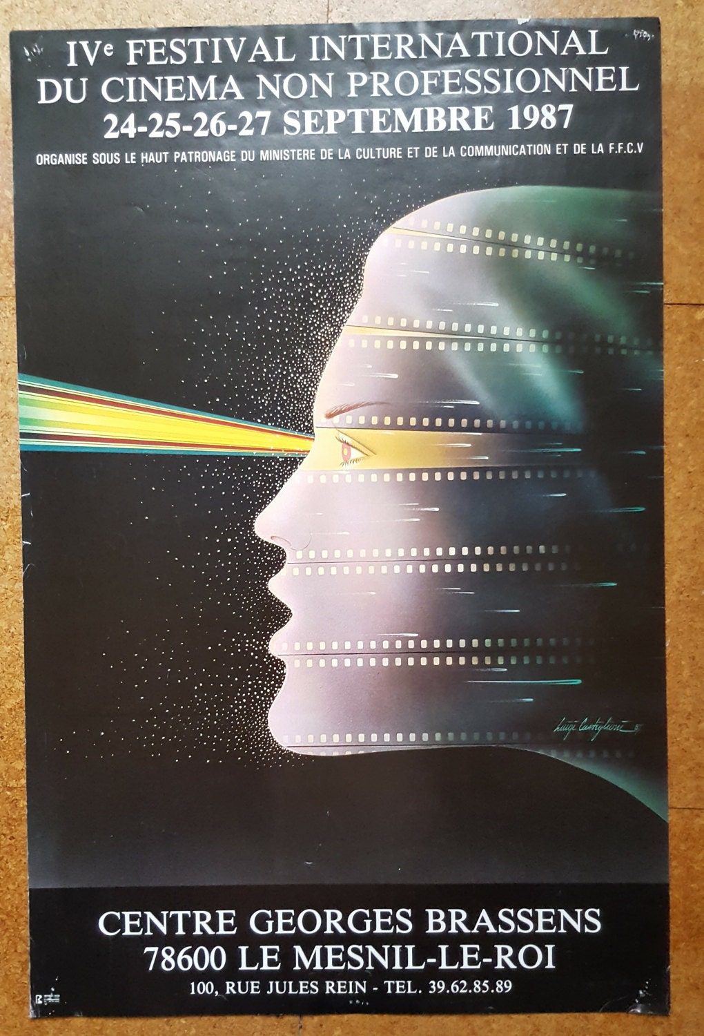 French Vintage Poster  Exhibition Poster  French Art Poster  1980s Art Poster