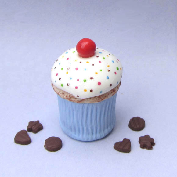 Dollhouse Miniature Cupcake Cookie Jar By Bluekittyminiatures
