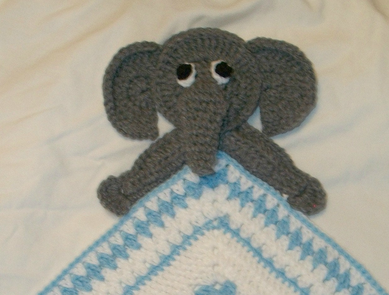 Crochet Elephant Blanket : Crochet Elephant Snuggle Blanket, Blanket, Lovie, Security Blanket ...