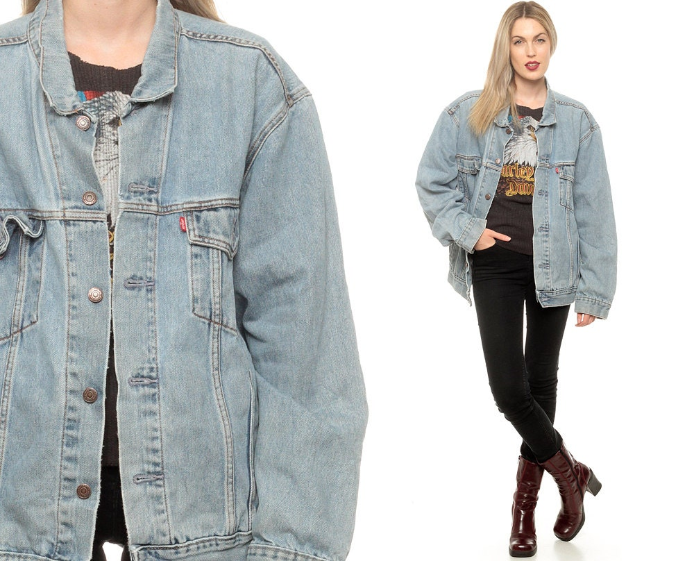 Shearling denim jackets for women