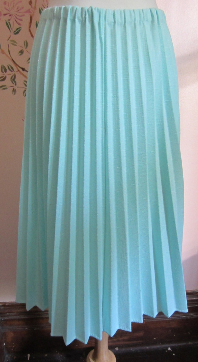 mint knit accordion pleated skirt by heydarlin on etsy