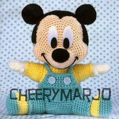 Mickey Mouse Amigurumi Schema : Crochet amigurumis Mickey patron gratis - Imagui