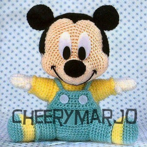 Crochet doll amigurumi PDF pattern - Baby Mickey Mouse