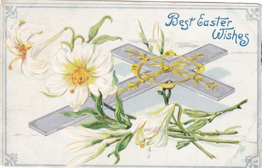 Vintage Easter Post Card Early 1900s epc452
