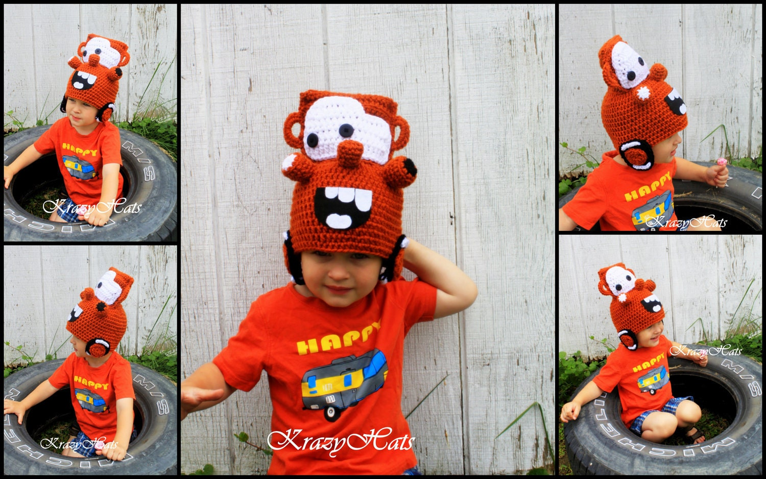 Free crochet pattern for mater hat manet for crochet brown car hat by krazyhats1 on etsy bankloansurffo Choice Image