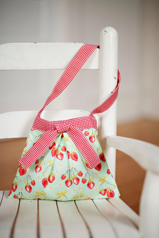 little girl purse toddler handbag in Sandy Henderson strawberry fields