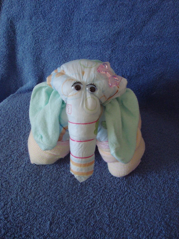 Baby Elephant Diaper Cake