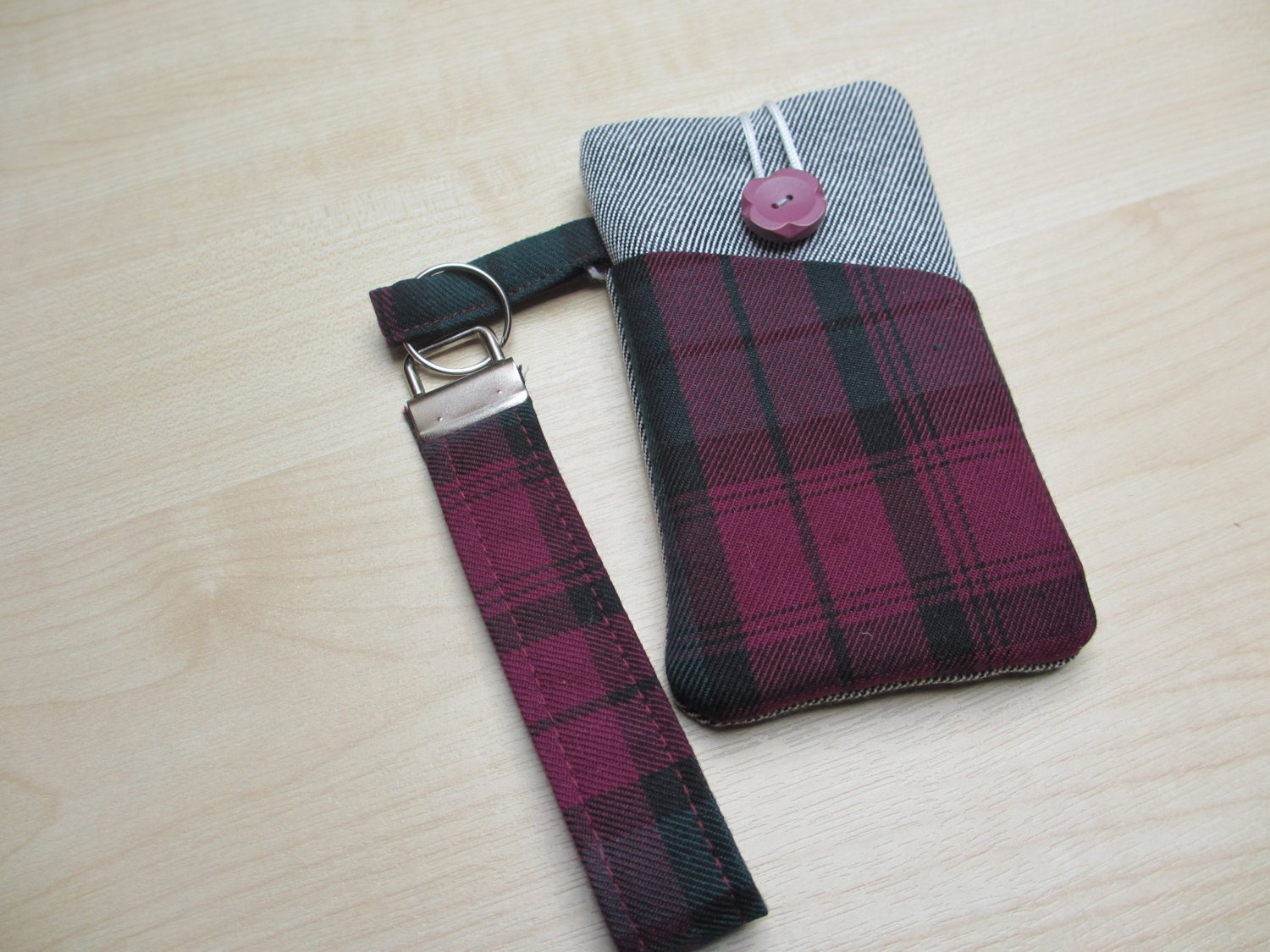 iPod touch caselanyard  tartan phone set denim cell phone Xperia phone sleeve iphone 5 case Galaxy pouch iPhone 5S case wriststrap