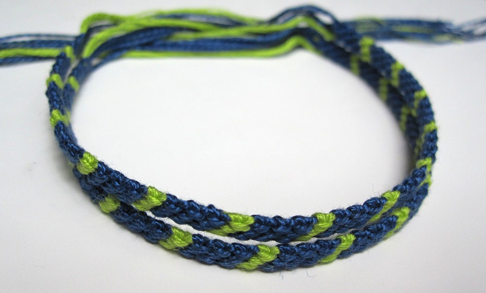Items Similar To Thin Embroidery Floss Friendship Bracelet