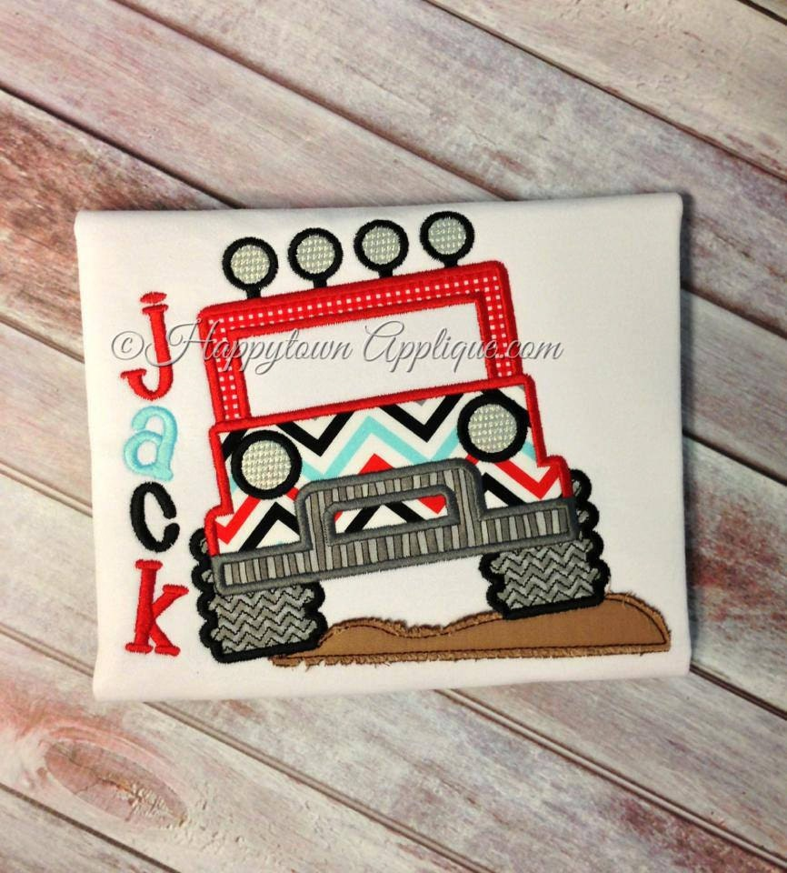 Jeep machine embroidery design by happytownapplique on etsy
