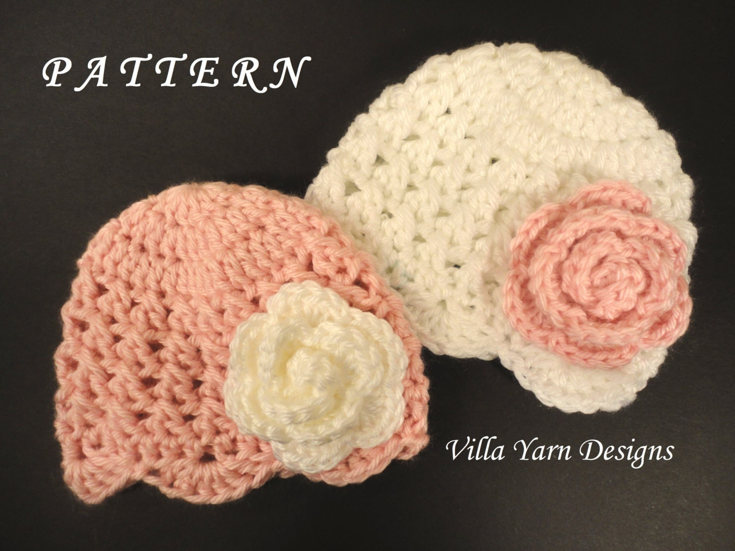 Crochet Tassel Hat Pattern For Baby : Crochet Baby Hat Pattern Newborn Twin Girls by ...