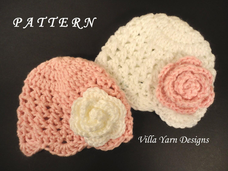 Crochet Hat Patterns For Twin Babies : Crochet Baby Hat Pattern Newborn Twin Girls by ...