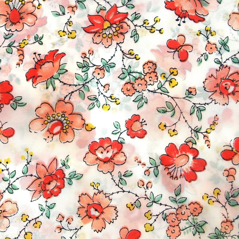 Vintage floral fabric patterns for Patterned material for sale