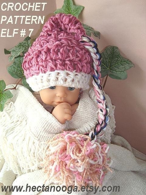 Crochet Pattern num. 266...BABY ELF HAT 7... 30 by Hectanooga