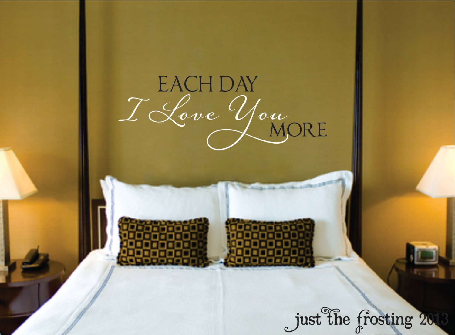 Love you vinyl wall decal bedroom decal wedding decal gift love