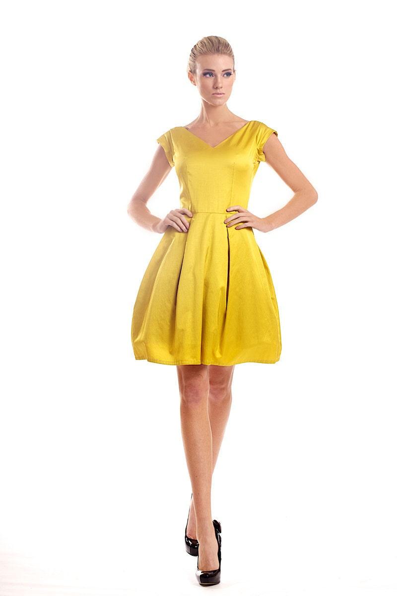 Cotton-viscose blend dress - tsyndyma