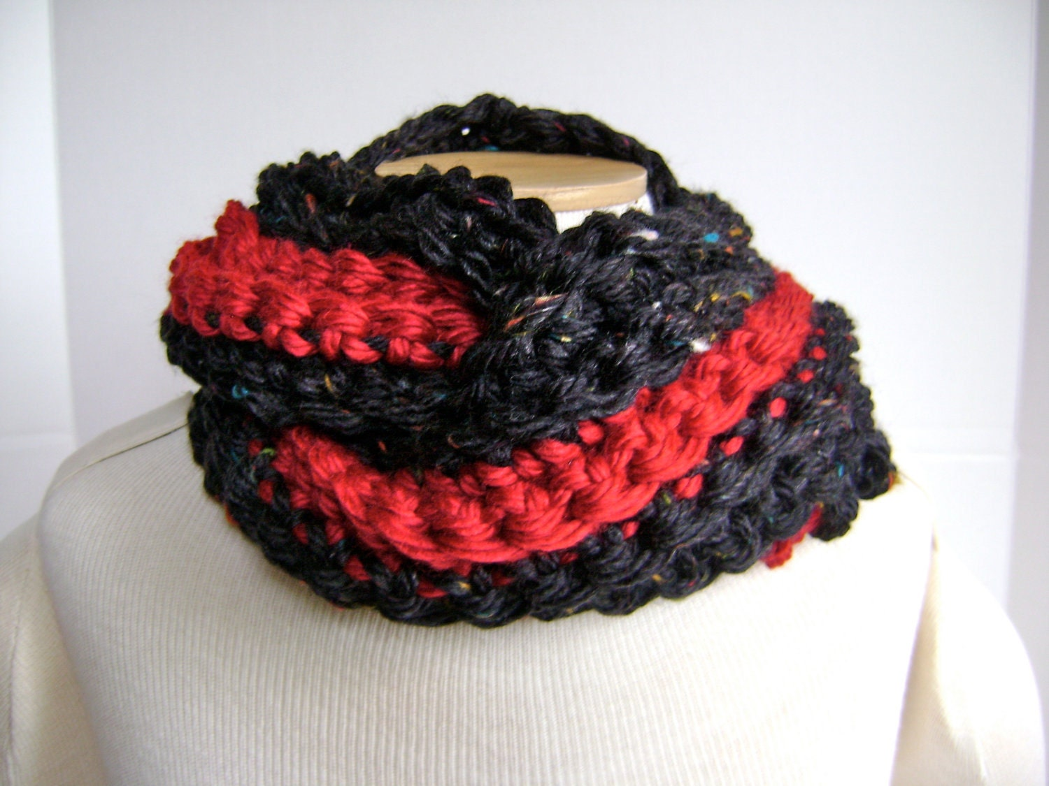Crochet Cowl Scarf  ON SALE 28 reg 41 Mobius Style  For Men Women or  Crochet Scarves For Sale