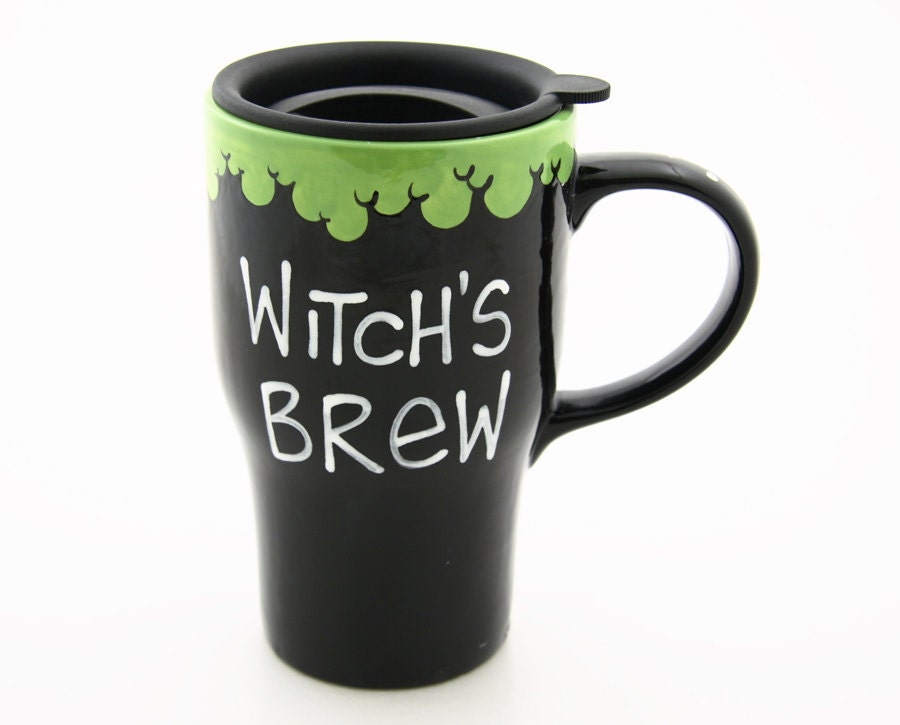 Witch S Brew Halloween Travel Mug With Handle By Lennymud