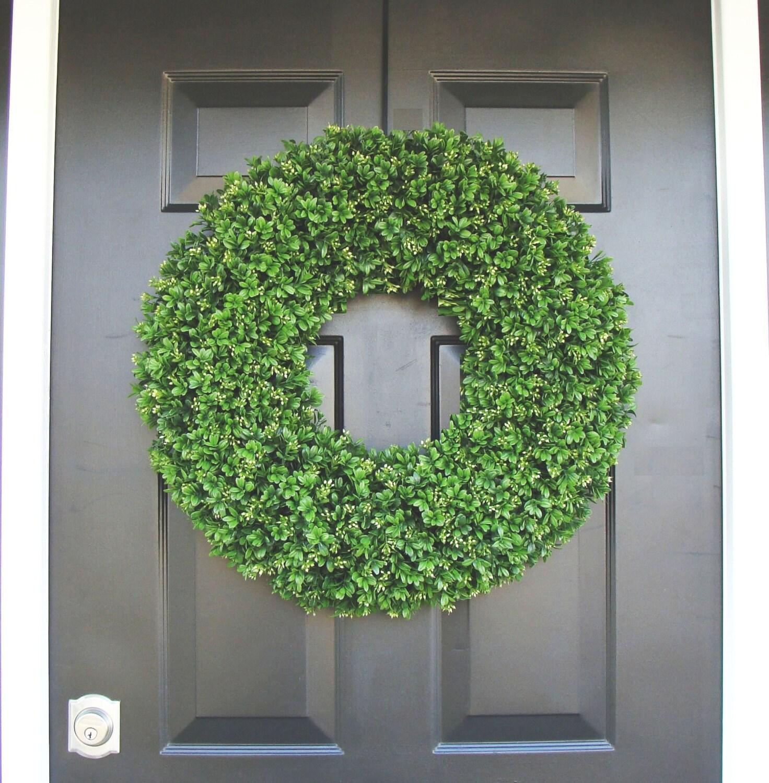 Spring wreath artificial boxwood wreath wedding wreath wedding