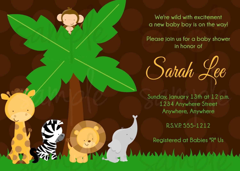safari jungle baby shower invitation by lovelifeinvites on etsy