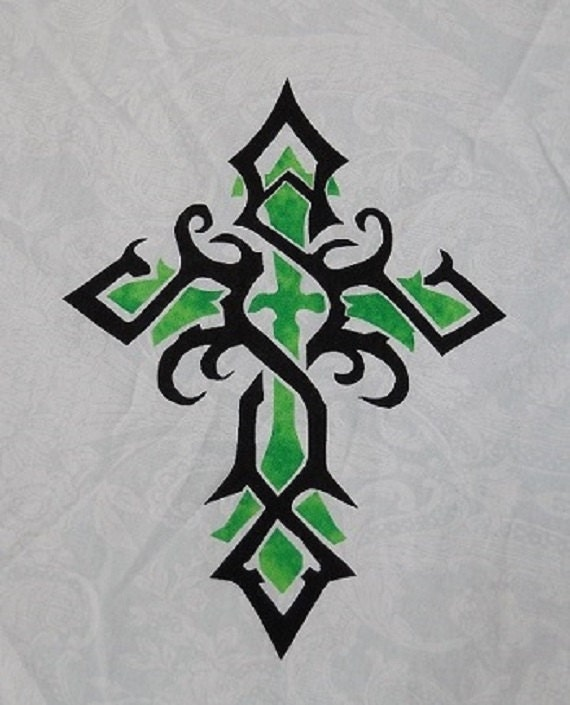 Easy Tribal Celtic Cross Quilt Applique by HumburgCreations