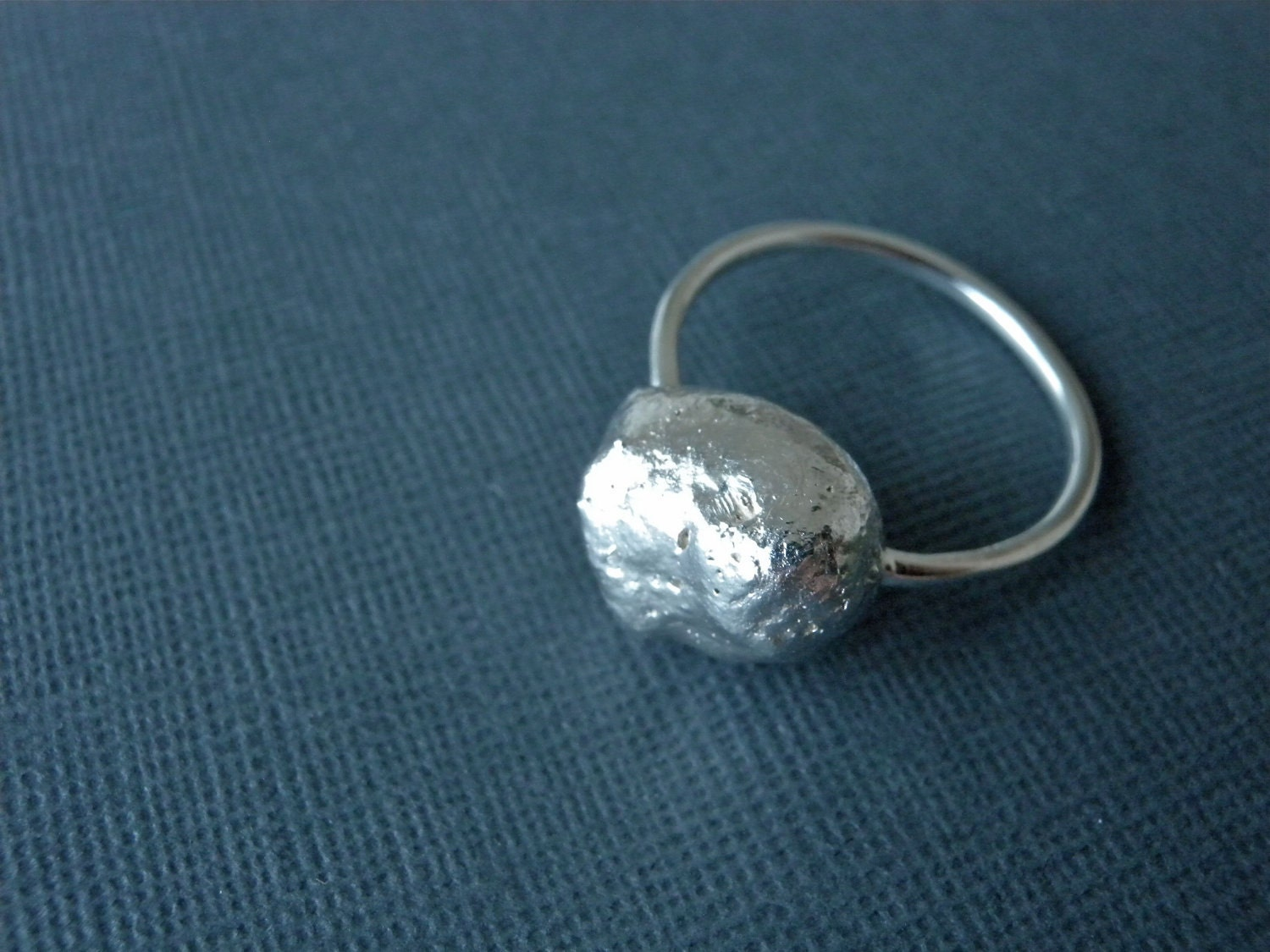 Comet Organic Silver Ring Unique Solid Sterling by ChristianJessie from etsy.com