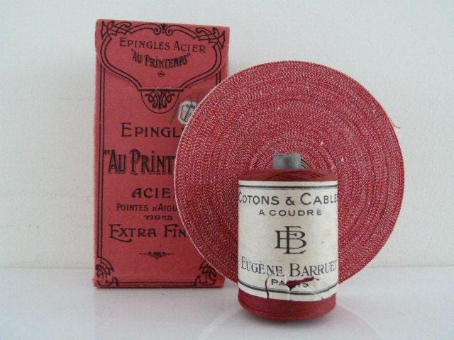 3 Vintage Red Sewing French Finds - BonjourLaFRANCE