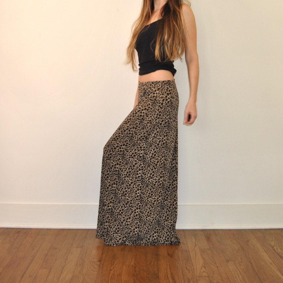 cheetah print maxi skirt 90 s skirt by jacknboots