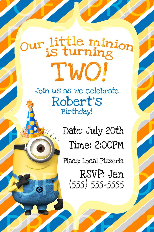 Despicable Me Birthday Invitation was amazing invitation template