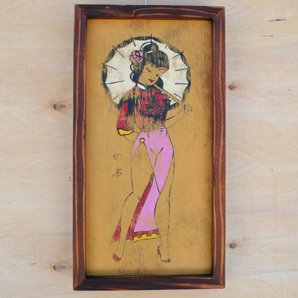 japanese pin up girl sailor jerry tattoo art by tabooisland. Black Bedroom Furniture Sets. Home Design Ideas