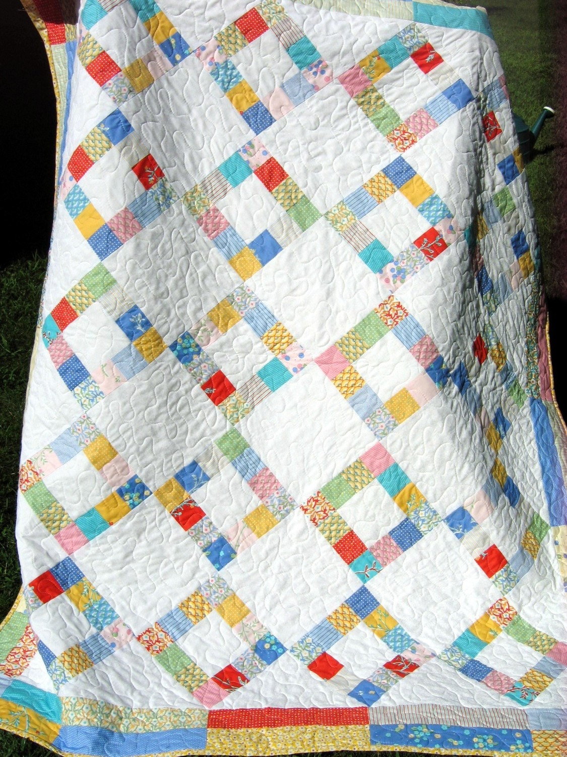 Quilt Pattern For 9 Fat Quarters : QUILT PATTERN Jelly Roll or Fat Quarters two sizes by sweetjane