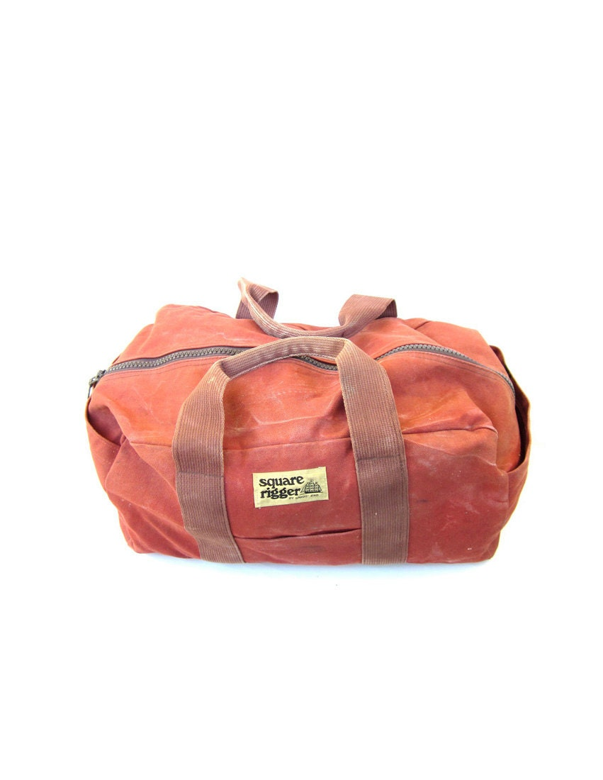 items similar to vintage ll bean style canvas duffle bag