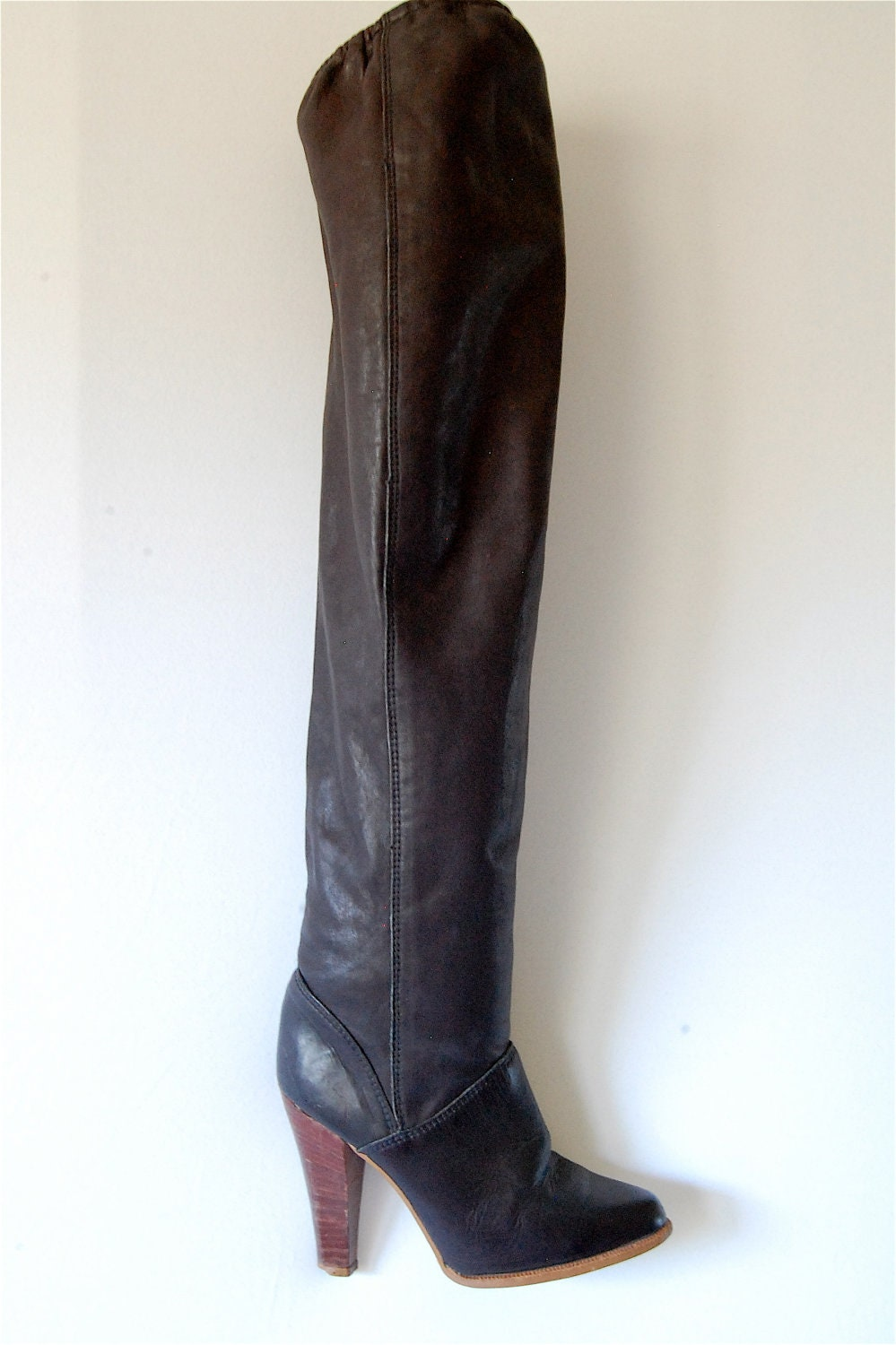 vintage zodiac thigh high leather boots the by