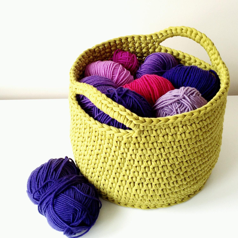 Large crochet basket storage basket nursery storage toy  tidy eco friendly custom colour