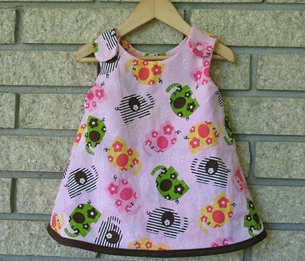 Sew can do reversible serena baby dress pattern