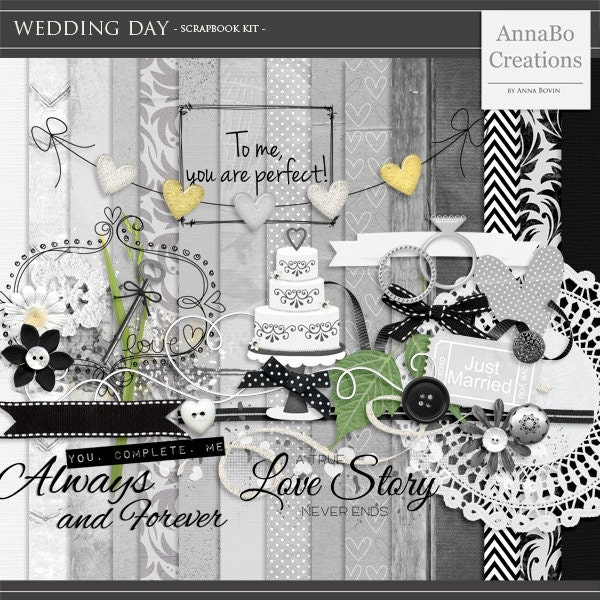 Wedding scrapbook kit  Etsy