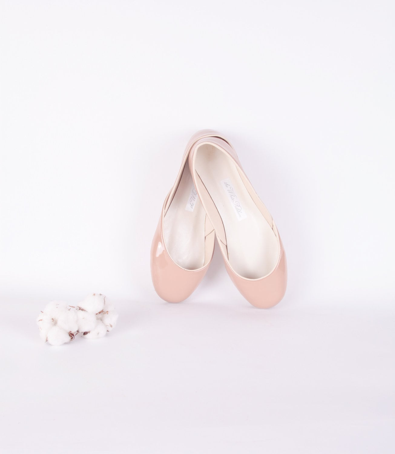 custom listing for Grace........up-cycled patent leather ballet flats. tea rose. - thewhiteribbon