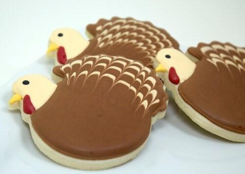 Thanksgiving Turkey cookies - Bakinginheels