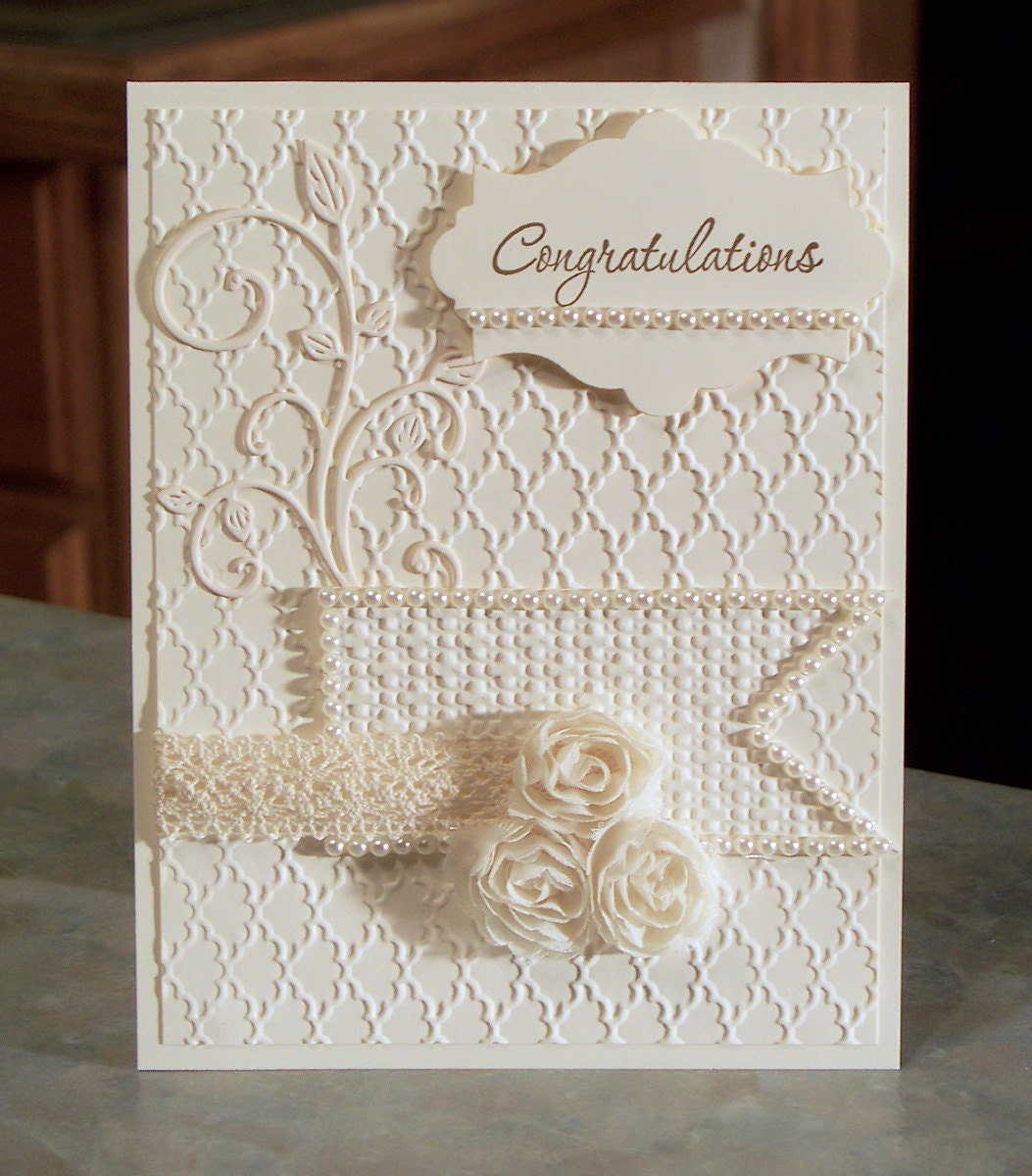 Embossed congratulations card stampin up love by