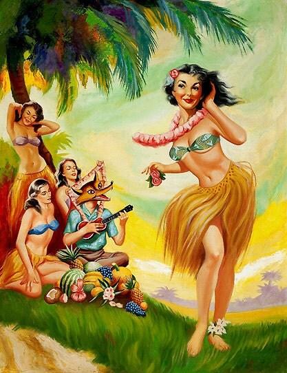 Hook up hula girl