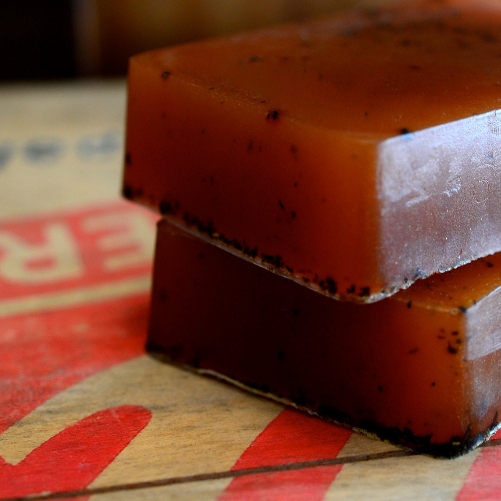 Tobacco Honey Soap - Pipe Tobacco, Golden Honey - Handmade Glycerin Soap - FirebirdBathBody