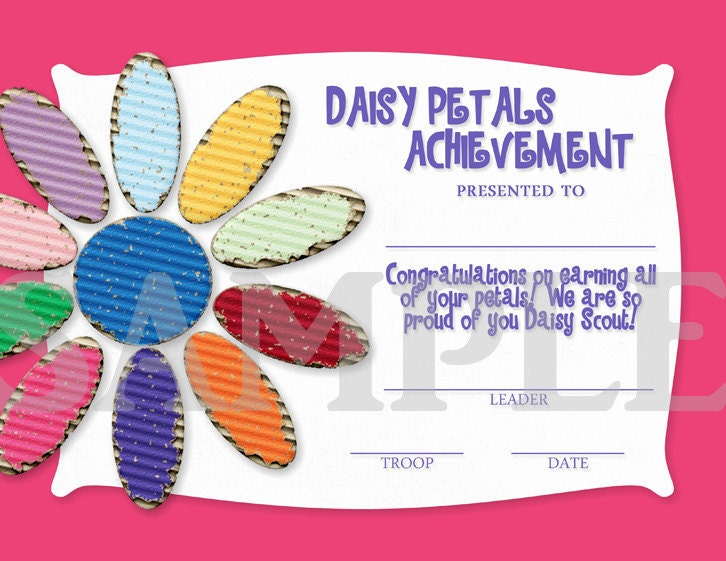Girl Scouts Daisy Petals Earned by CapturedbyJessPrints on ...