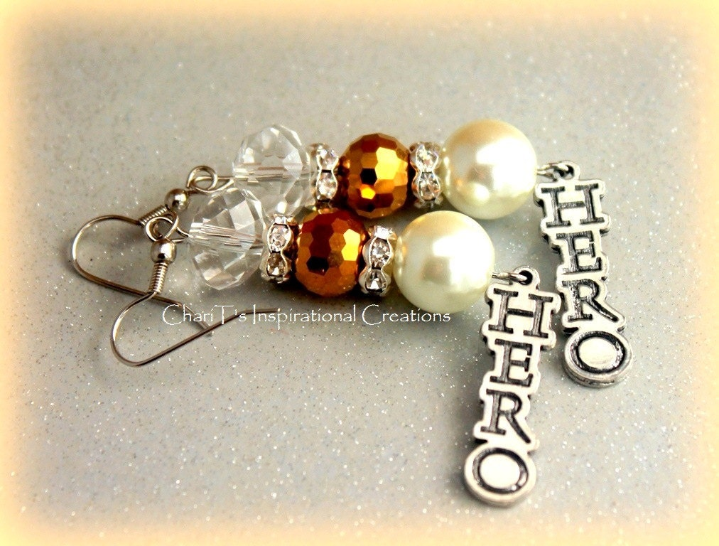 You are my HERO Inspirational Earrings