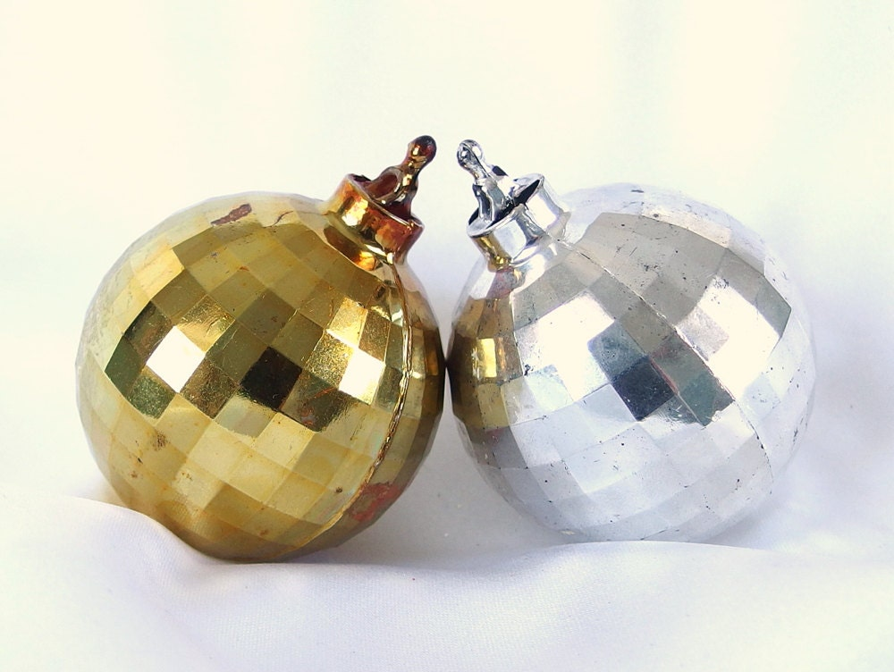Unavailable listing on etsy for Small gold christmas ornaments