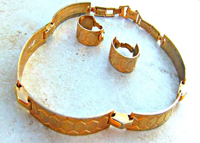 Vintage Brass Choker Set Barclay Jewelry Direct Checkout Metal Jewelry Woman Black Friday Etsy - Lusmysticjewels