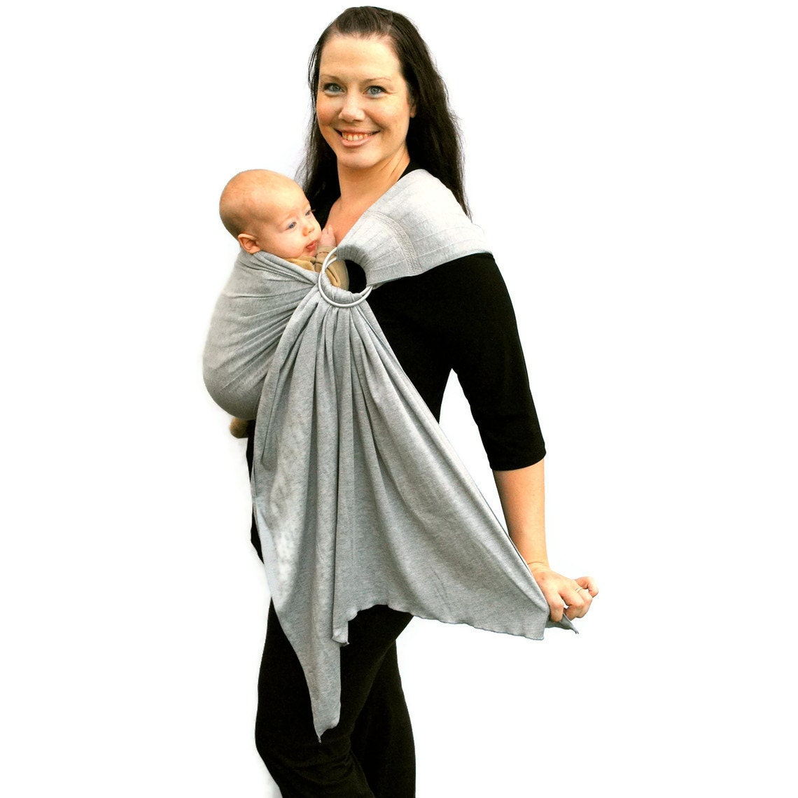 Newborn Baby Ring Sling Carrier Babysoft Stretch In By